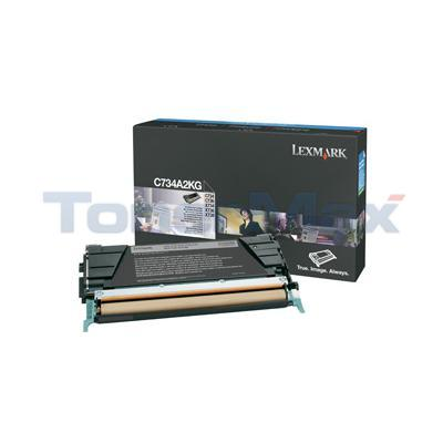 LEXMARK C734DN TONER CART BLACK 8K